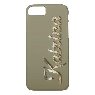 """Katrina"" Custom Monogram iPhone 7 Case"