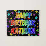"[ Thumbnail: ""Katrina"" First Name, Fun ""Happy Birthday"" Jigsaw Puzzle ]"
