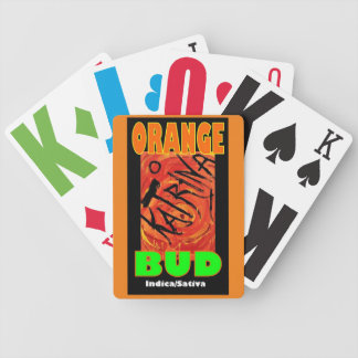 KATRINA ORANGE BUD BICYCLE PLAYING CARDS