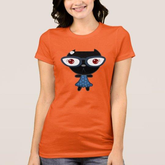 Kats With Glassez : Blacky Kat T-Shirt