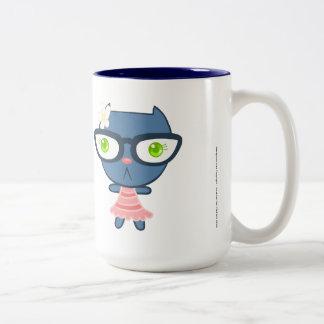 Kats With Glassez : Blu Kitty Mug