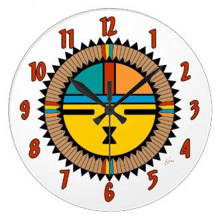 Katsina (Kachina) Sun Face Large Clock