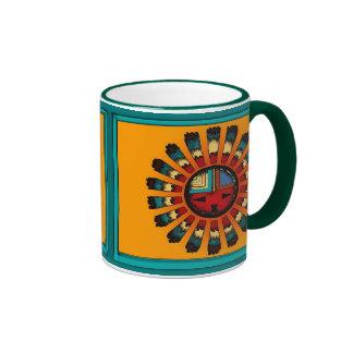 Katsina (Kachina) Sun Face Ringer Coffee Mug