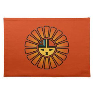 Katsina (Kachina) Sun hace frente Manteles
