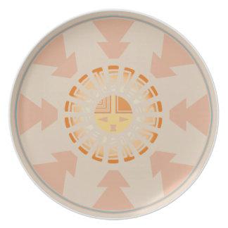 Katsina (Kachina) Sunface Dinner Plate