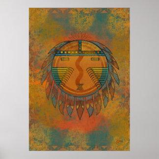 Katsina Sun Face Poster