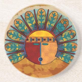 Katsina Sun Face Sandstone Coaster