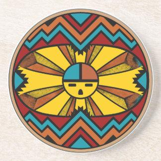 Katsina Sunface Beverage Coasters