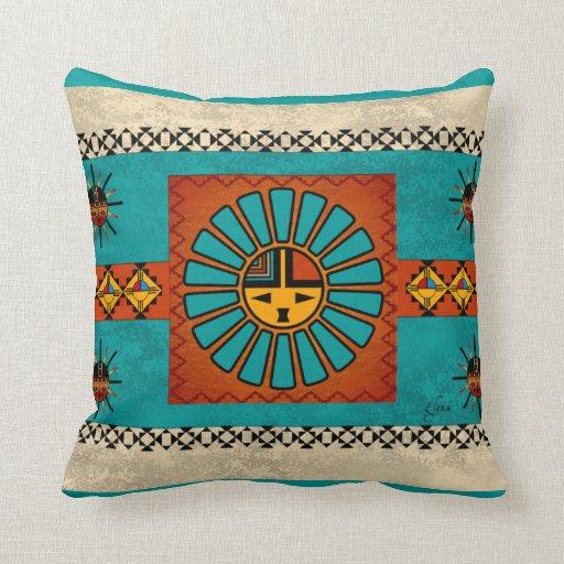 Throw Pillow Zazzle : Katsina Sunface Throw Pillow Zazzle