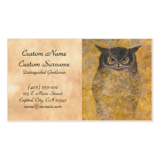 Katsuda Yukio Owl japanese oriental fine art Business Card