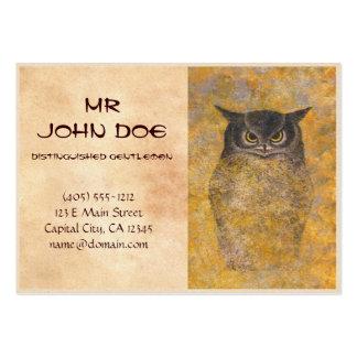 Katsuda Yukio Owl japanese oriental fine art Business Cards
