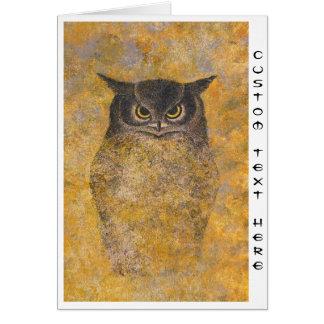 Katsuda Yukio Owl japanese oriental fine art Stationery Note Card