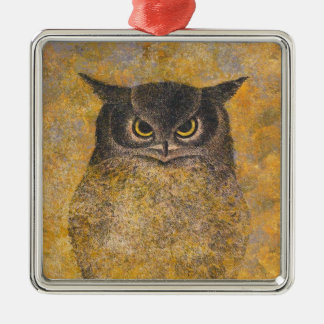 Katsuda Yukio Owl japanese oriental fine art Metal Ornament