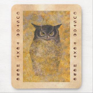 Katsuda Yukio Owl japanese oriental fine art Mouse Pad