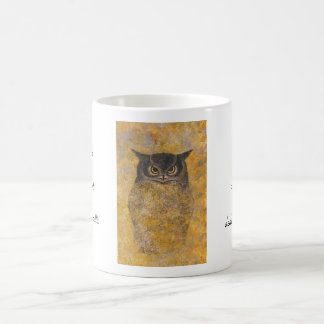 Katsuda Yukio Owl japanese oriental fine art Classic White Coffee Mug