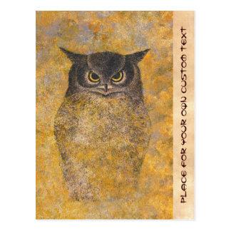Katsuda Yukio Owl japanese oriental fine art Postcard