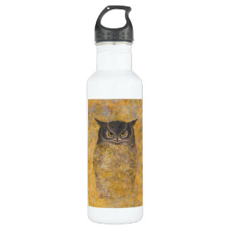 Katsuda Yukio Owl japanese oriental fine art Water Bottle