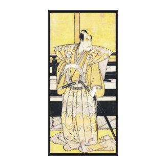 Katsukawa Shunsho Actor as Samurai Katana art Gallery Wrap Canvas