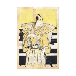 Katsukawa Shunsho Actor as Samurai Katana art Gallery Wrapped Canvas