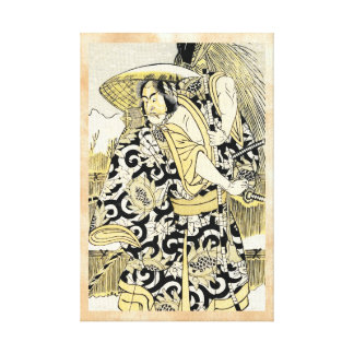 Katsukawa Shunsho actor as samurai katana japanese Canvas Prints