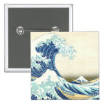 Katsushika Great Wave off Kanagawa Button