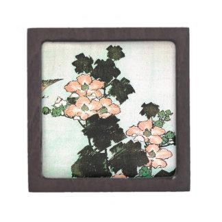 Katsushika Hokusai (葛飾北斎) - Hibiscus and Sparrow Keepsake Box