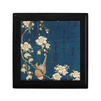 Katsushika Hokusai 葛飾 北斎 Goldfinch and Cherry Tree Jewelry Box