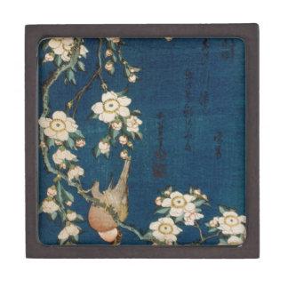 Katsushika Hokusai 葛飾 北斎 Goldfinch and Cherry Tree Keepsake Box
