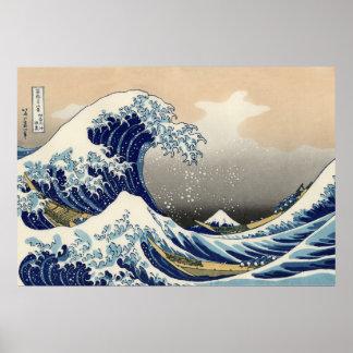 Katsushika Hokusai: La gran onda de Kanagawa Posters