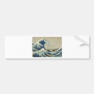 Katsushika Hokusai: La gran onda en Kanagawa Pegatina Para Auto