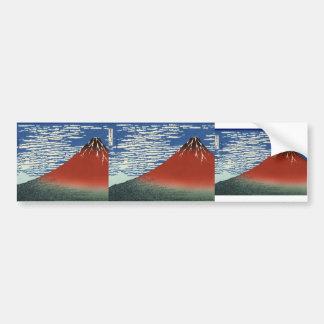 Katsushika Hokusai: Montañas en tiempo claro Pegatina Para Auto
