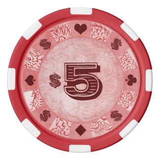 Katsushika Hokusai Mythical Legendary Dragon art Set Of Poker Chips