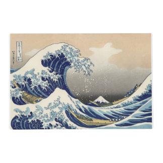Katsushika Hokusai Placemat echado a un lado doble Salvamanteles