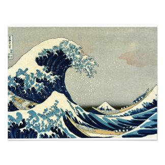 Katsushika Hokusai s Great Wave off Kanagawa Custom Invitations