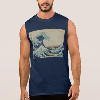 Katsushika Hokusai: The Great Wave at Kanagawa Sleeveless Shirt