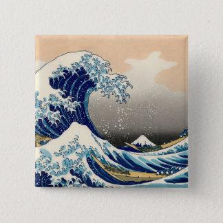 KATSUSHIKA HOKUSAI - The great wave off Kanagawa Pinback Button
