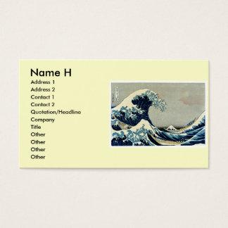 Katsushika Hokusai's Great Wave off Kanagawa Business Card