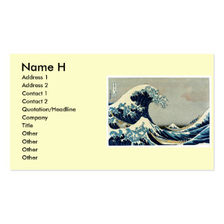 Katsushika Hokusai's Great Wave off Kanagawa Business Card Template