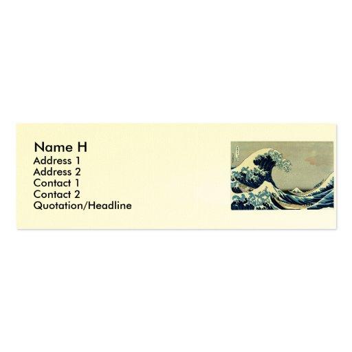 Katsushika Hokusai's Great Wave off Kanagawa Double-Sided Mini Business Cards (Pack Of 20)