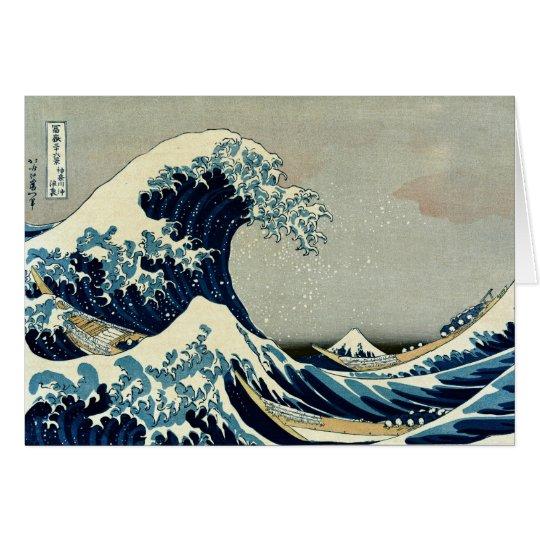 Katsushika Hokusai's Great Wave off Kanagawa Card