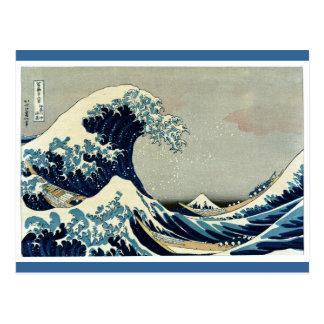 Katsushika Hokusai's Great Wave off Kanagawa Postcard