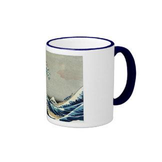 Katsushika Hokusai's Great Wave off Kanagawa Ringer Mug