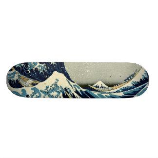 Katsushika Hokusai's Great Wave off Kanagawa Skateboard