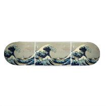 Katsushika Hokusai's Great Wave off Kanagawa Skateboard Deck