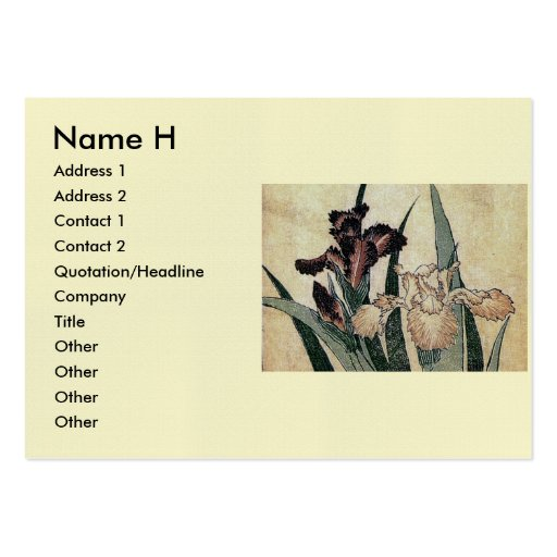 Katsushika Hokusai's Irises (Detail) Business Card