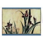 Katsushika Hokusai's Irises Greeting Cards