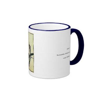 Katsushika Hokusai's Irises Ringer Coffee Mug