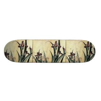 Katsushika Hokusai's Irises Skateboard Deck