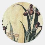 Katsushika Hokusai's Irises Sticker