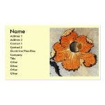Katsushika Hokusai's Poppies Double-Sided Standard Business Cards (Pack Of 100)